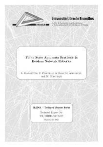 Finite State Automata Synthesis in Boolean Network Robotics - ULB