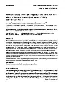 Finnish nurses' views of support provided to families ... - Sciedu Press