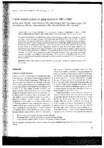Finnish research project on aging workers in 1981-1 ...