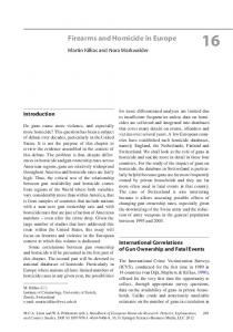 Firearms and Homicide in Europe - Springer Link