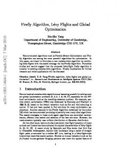 Firefly Algorithm, Levy Flights and Global Optimization