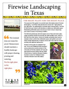 Firewise Landscaping in Texas - Texas Forest Service