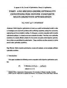 first- and second-order optimality conditions for convex composite