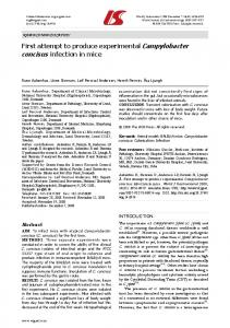 First attempt to produce experimental Campylobacter ... - CiteSeerX