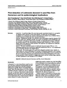 First detection of Leishmania donovani in sand flies ...