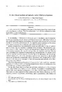 First Direct Synthesis of Optically Active 3 ...