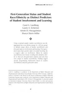 First-Generation Status and Student Race/Ethnicity as Distinct ...