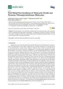 First Metal-Free Synthesis of Tetracyclic Pyrido and Pyrazino ...