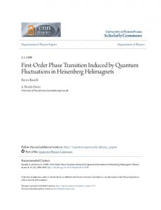 First-Order Phase Transition Induced by ... - ScholarlyCommons