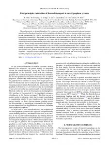 First-principles calculation of thermal transport in ... - APS link manager