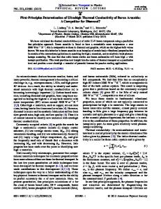 First-Principles Determination of Ultrahigh Thermal ... - Physics (APS)