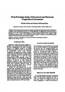 First-Principles Study of Structural and Electronic Properties of ...