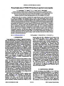 First-principles study of TiN/SiC/TiN interfaces in ... - APS Link Manager