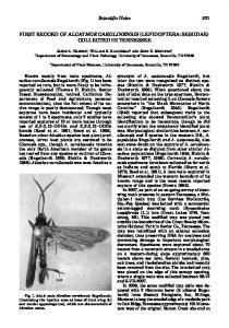 first record of alcathoe carolinensis (lepidoptera: sesiidae) collected in ...