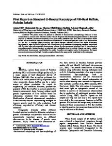 First Report of G-Banded Karyotype of Pakistani ... - Semantic Scholar
