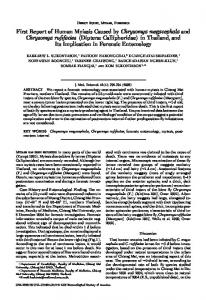 First Report of Human Myiasis Caused by ... - Semantic Scholar