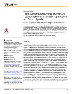 First Report of the Occurrence of Trichinella ... - Semantic Scholar