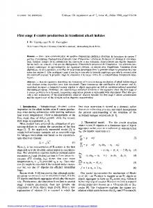 First stage F-centre production in irradiated alkali halides - CiteSeerX