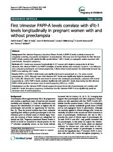 First trimester PAPP-A levels correlate with sFlt-1 ... - BioMedSearch
