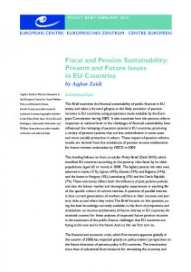 Fiscal and Pension Sustainability: Present and Future Issues in EU ...
