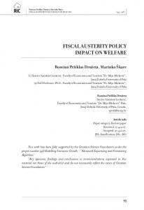 FISCAL AUSTERITY POLICY IMPACT ON WELFARE