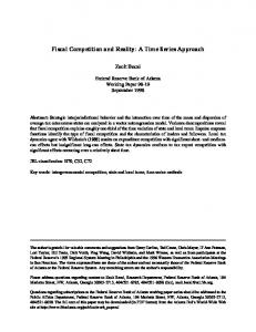 Fiscal Competition and Reality - Federal Reserve Bank of Atlanta