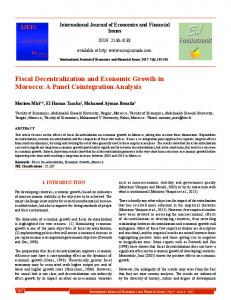 Fiscal Decentralization and Economic Growth in ... - EconJournals.com