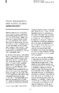 fiscal equalization and school finance - National Tax Association