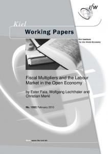 Fiscal Multipliers and the Labour Market in the Open ... - CiteSeerX