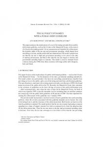 fiscal policy dynamics with a public-debt guideline - SSRN papers