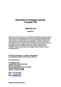 Fiscal Policy in Developing Countries - SSRN papers