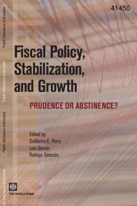 Fiscal policy, stabilization, and growth