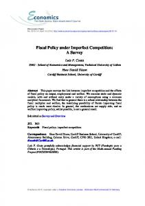 Fiscal Policy under Imperfect Competition: A Survey