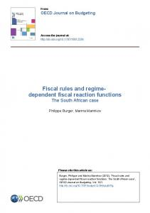 Fiscal rules and regime- dependent fiscal reaction functions - OECD.org