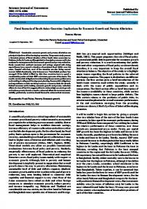 Fiscal Scenario of South - Science Journal Publication