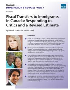 Fiscal Transfers to Immigrants in Canada - Fraser Institute