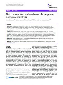 Fish consumption and cardiovascular response ... - BioMedSearch