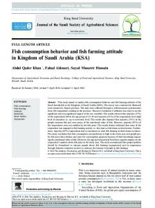 Fish consumption behavior and fish farming attitude in Kingdom ... - Core