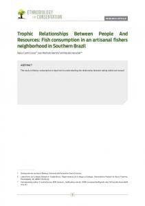 Fish consumption in an artisanal fishers neighborhood in Southern