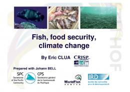 Fish, food security, climate change