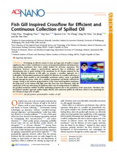 Fish Gill Inspired Crossflow for Efficient and ... - ACS Publications