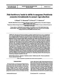 Fish herbivory leads to shifts in seagrass Posidonia oceanica ...