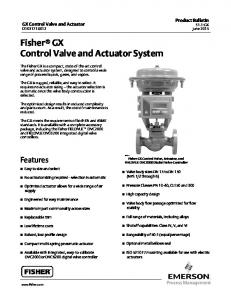 Fisher GX Control Valve and Actuator System