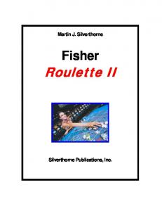 Fisher Roulette II Strategy - Gamblers' Bookcase