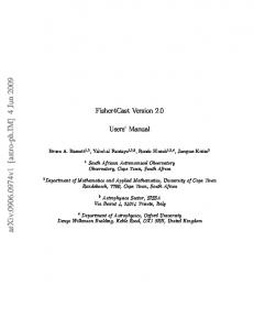 Fisher4Cast Users' Manual
