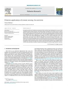 Fisheries applications of remote sensing: An overview