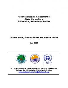 Fisheries Baseline Assessment of Fisheries Baseline Assessment of ...
