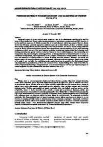 FISHERIES SECTOR IN TURKISH ECONOMY AND MARKETING OF ...