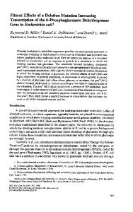 Fitness Effects of a Deletion Mutation Increasing ... - Semantic Scholar