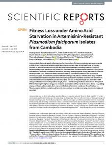 Fitness Loss under Amino Acid Starvation in